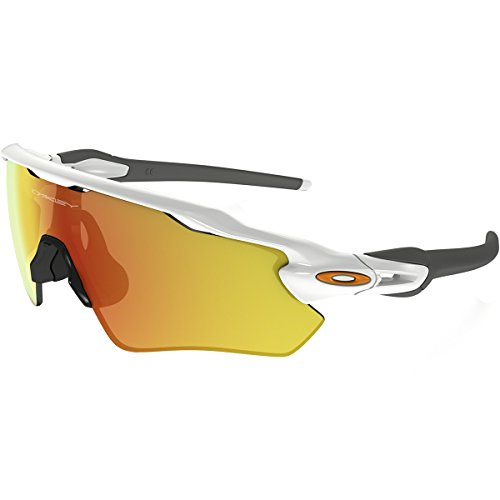 Oakley Men's Radar EV Path OO9208-16 Non-Polarized Iridium Shield Sunglasses, Polished White, 138 - Oakley $16 Sunglasses