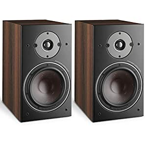 """DALI Oberon 3 2-Way 150W RMS Stand-Mount Bookshelf Speaker with 7"""" SMC Based Wood Fibre Cone Woofer and 29 mm Soft Dome Tweeter – Dark Walnut (Pair)"""