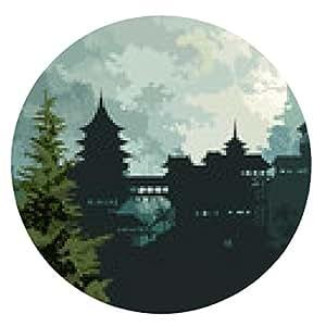 alfombrilla de ratón fondo China, Asia, pagoda - ronda - 20cm