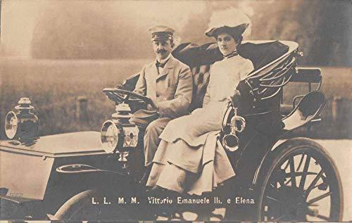 Italy Vittorio Emanuele III and Elena Royalty Real Photo Postcard JJ658834