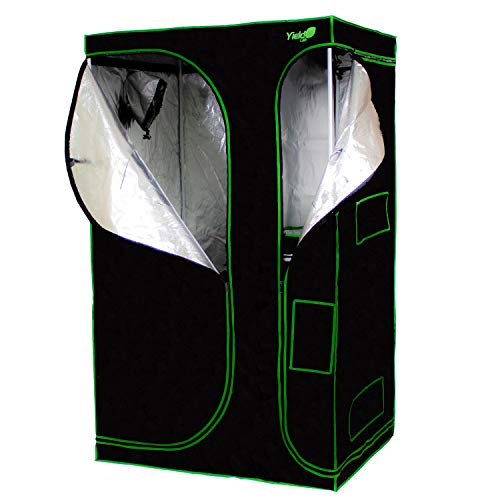 $149.95 indoor grow tent reviews Yield Lab 48″ x 36″ x 80″ 2-in-1 Full Cycle Reflective Plant Grow Tent with Viewing Windows and Flood Trays – Hydroponic Horticulture Growing Tent for Herbs, Spices, Fruits and Vegetables 2019