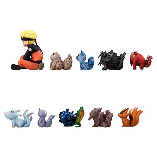 OIVA Set of 11 Pieces Naruto with Tailed beasts Action (Naruto Toy Figures)