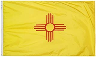 product image for Annin Flagmakers Model 143780 New Mexico Flag Nylon SolarGuard NYL-Glo, 5x8 ft, 100% Made in USA to Official State Design Specifications