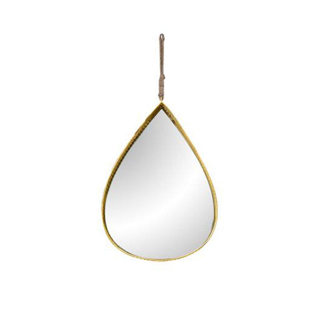 MAL Spiegelschmiedeeiserner Wandspiegelwanddekorationsbadezimmer-Schönheitsspiegelwassertropfen-kreativer Dekorativer Spiegel (Farbe : A)