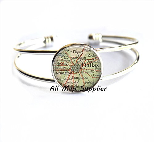 Charming Bracelet Dallas map Bracelets, Dallas map Bracelet, Dallas Bracelets, Dallas Bracelet, map - Highlands Arlington Map