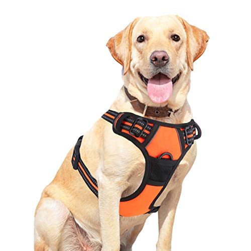 Vovodog Dog Harness No-Pull Pet Harness, Adjustable Outdoor Walking Pet Reflective Oxford Soft Vest with 2 Metal Rings…