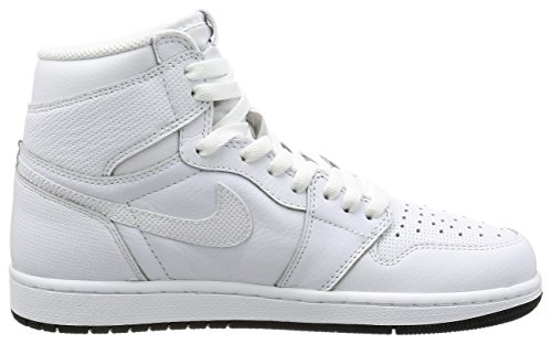 Air Jordan 1 Retro High OG Schuhe Sneaker Neu (EUR 44 US 10 UK 9, Weiß)