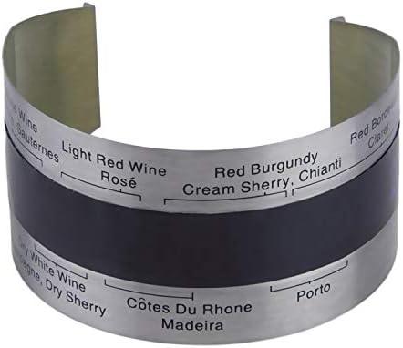 Acero Inoxidable Pantalla Inteligente Pantalla LCD eléctrica Botella de Vino Rojo Termómetro Digital Medidor de Temperatura Herramientas de Cocina