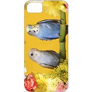 DIY Apple iPhone 5S Case Customized Gifts Personalized With Animals Budgerigars Normal Birds Animals White