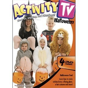 Halloween Craft Making and Costume Making : Activity Tv : Learn Step By Step How to Make Costumes , Trick or Treat Bags , Carve Pumpkins and Other Decorations , Tasty Treats , How to Put on Makeup & More : 4 Dvd Set : 324 Minutes -