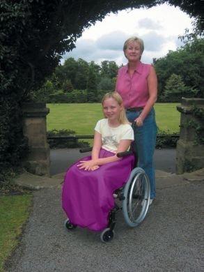 Sheerlines - Manta para silla de ruedas para niños (talla única), color violeta
