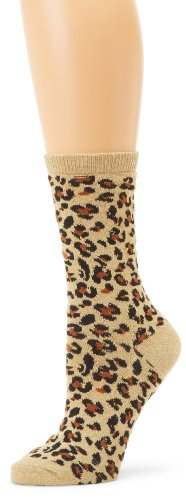 K Bell Socks Metallic Leopard