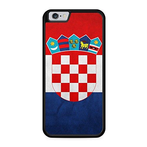 Kroatien Hrvatska Apple iPhone 6 / 6S SILIKON BK Hülle Cover Case Schutz Schale Croatia Flagge Flag