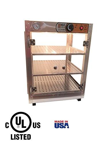 (HeatMax 181824 Food Warmer Display, Pizza Warmer)