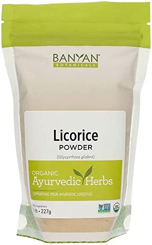 Banyan Botanicals Licorice Root Powder, 1 2 Pound – USDA Organic – Glycyrrhiza glabra – Ayurvedic Herb for Lungs, Skin, Stomach