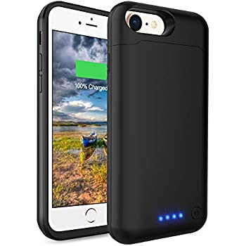 LCLEBM Battery Case for iPhone 6 Plus/ 6s Plus (5.5 inch), 8500mAh High Capacity Extended Battery Charger Case, Portable Protective Charging Case Compatible ...