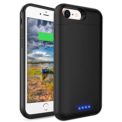 Battery Case for iPhone 6 Plus/ 6s Plus, LCLEBM 8500mAh Portable Protective Charging Case Compatible with iPhone 6 Plus/6s Plus(5.5 inch) Rechargeable Power Bank Extended Battery Charger Case-Black