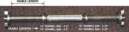 TDS Threaded Dumbell Bars 24 Sold As Pair