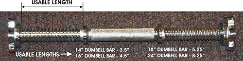 "Threaded Dumbell Bars 18"" (Sold As Pair)"