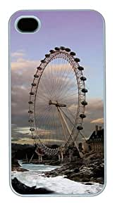 For Case Iphone 4/4S Cover, london PC Hard Plastic For Case Iphone 4/4S Cover Whtie