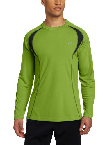 Alo Mens Bamboo - Alo Yoga Men's Response Long Sleeve Tee, Cedar/Anthracite, XX-Large