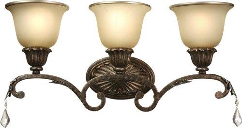 Artcraft Lighting Florence 3-Light Wall Sconce Light, Rich Bronze - Florence Counter