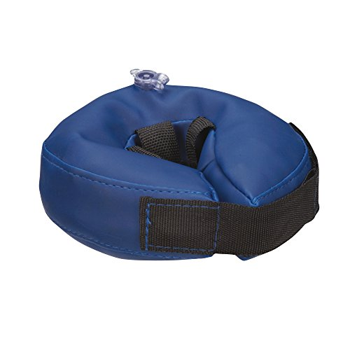 Total Pet Health Inflatable Dog Collars - Veterinarian-Approved Collars Designed to Prevent Pets from Scratching and Biting at Injuries, Stitches, Rashes, and Wounds - X-Small, Blue