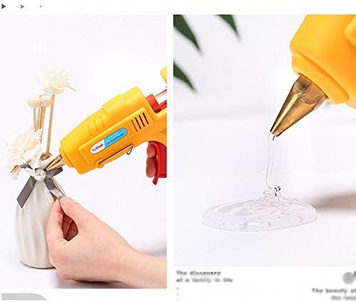 Xing zhe 33グルーのホットメルトグルーガン120 Wグルーガン急速加熱技術、カラーグルースティック - 美術工芸学校家の修理DIY(黄色)で使用 贈り物