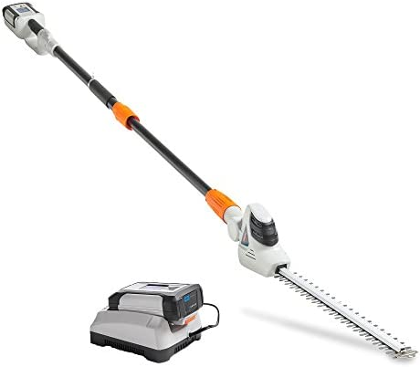 VonHaus 40V Max Cordless 20 Pole Hedge Trimmer with 83.8 to 107.5 Telescopic Extension - Includes 2.0Ah Battery and Charger