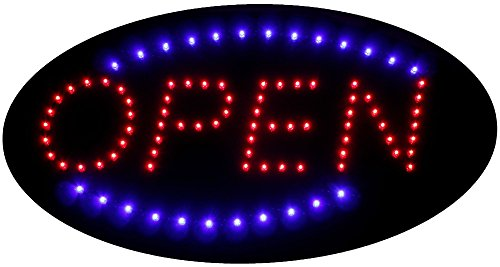 FlashingBoards B10219 Led Motion Business Shop Neon Light Sign, Oval ()