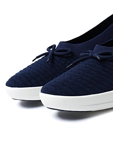 FitFlop Uberknit Ballerina With Bow In Waffle Shoes Midnight Navy