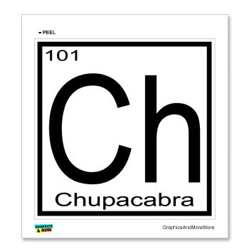 Amazon Com Graphics And More Chupacabra Ch Periodic