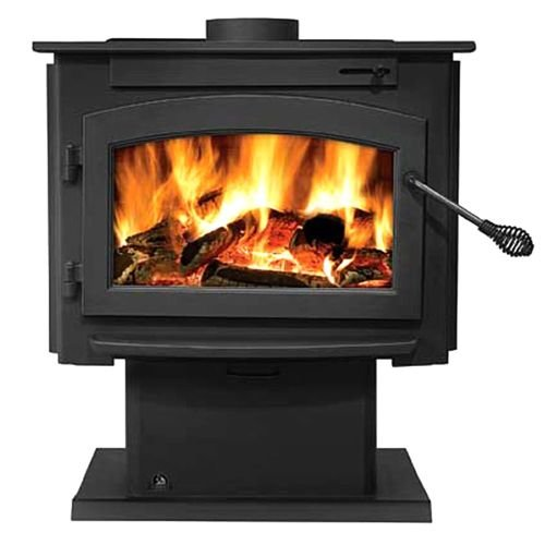Napoleon Timberwolf Economizer Series 2100 26'' Natural Vent Wood Burning Stove with Up to 52 000 BTU's EPA Certified Refractory Lined Firebox and Heat Radiating Ceramic by Napoleon
