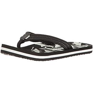 Reef Boys' Ahi Glow-K Sandal, Black/White, 3/4 M US Toddler