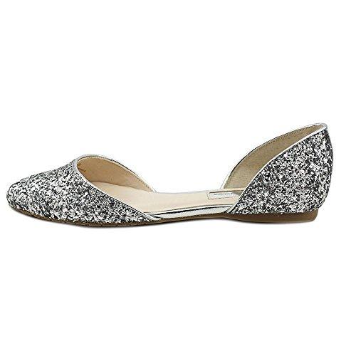 INC International Concepts Women's Crescente Two-Piece Flats Silver nA6Bdt