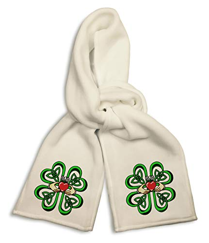 White Winter Scarf - Irish...