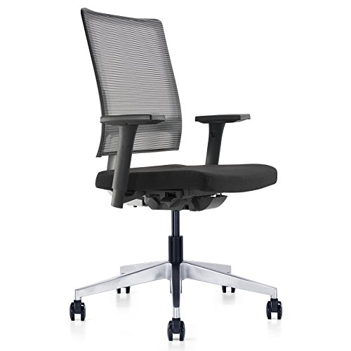 MEELANO 2-BLK Office Chair, Black