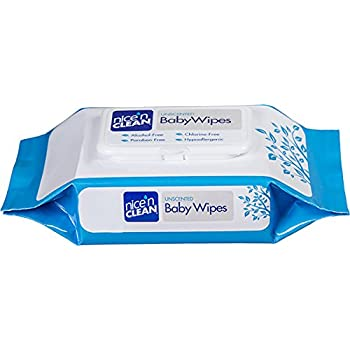 Nice N Clean Baby Wipes Soft-packs with Aloe, Unscented, Case of 6/80s (480 ct)