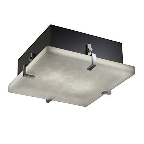 Group Justice Design Clips (Justice Design Group Lighting CLD-5557-DBRZ Clips 16-Inch Square Flush-Mount)