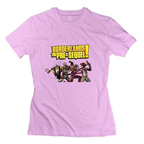 StaBe Women's Borderlands The PreSequel Logo T-Shirt Cotton Vintage XS Pink -