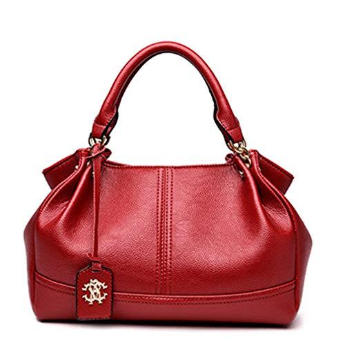 A Borse Red In 21cm Pu Donna Con Pelle 16cm 32cm Tracolla Casual dfqrfU