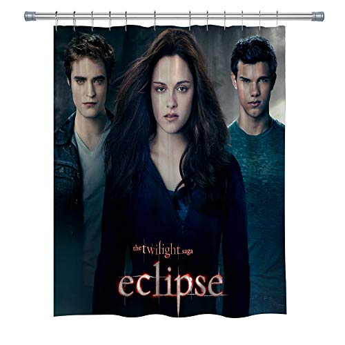 Elite ETSPY The Twilight Saga Eclipse Shower Curtains, Waterproof Polyester Fabric Shower Curtain for Bathroom, 3D Print Decor Shower Curtain Set with Hooks, 71X 71 in
