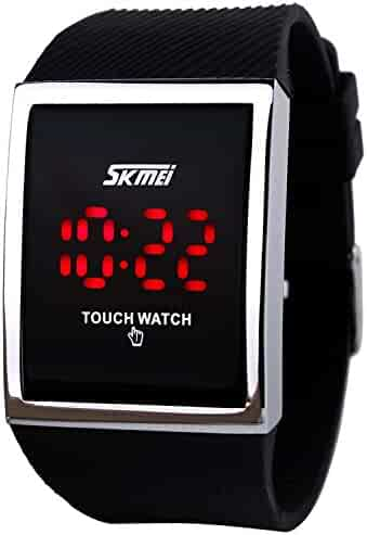 Boys Watch LED Sport Digital Touch Screen Outdoor Black Watches Boys Girls Gift Dress Watch-Black