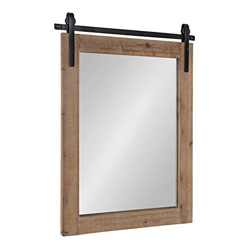Kate and Laurel Cates Wall Mirror, 22x.75x30, Rustic -