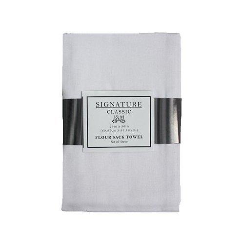 (J & M HOME FASHIONS 7420 3PK WHT Flour Sac Towel)