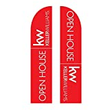 Medium Keller Williams Open House Feather Flag Double Sided