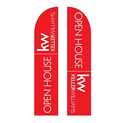 Small Keller Williams Open House Feather Flag Double Sided