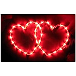 Valentine's Day 2 Heart Side by Side LIGHT Window Decor