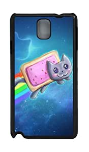 Nyan Cat Pop Tarts PC Case and Cover for Samsung Galaxy Note 3 Note III N9000 Black