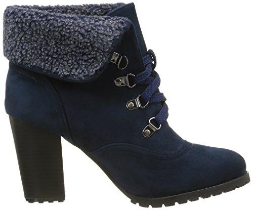 damen Combat Blau Blockabsatz CM Pelz Angkorly Schuhe Stiefeletten high heel 9 Boots 4dqnZ1